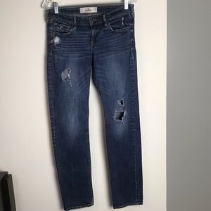 HOLLISTER DISTRESSED DENIM SKINNY  JEANS SIZE 7R